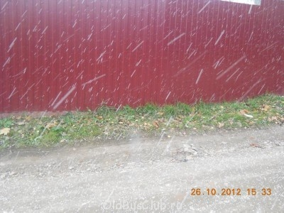 Пока ставил пошел снежок  - DSCN7519.JPG