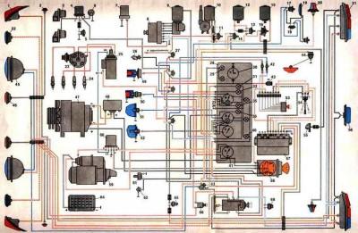 Схема электрооборудования РАФ 2203, 2203-01, 22038 - elecshema.jpg