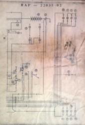 Схема электрооборудования РАФ 2203, 2203-01, 22038 - 4.jpg