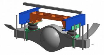 Общий вид, тут не совсем видно, но под пластиной нижней части подушки есть уголок который профилирован по геометрии моста. - Снимок1.JPG