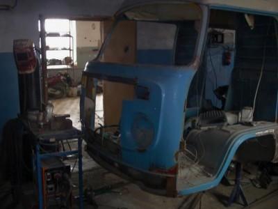 Установка радиатора и двигателя ВАЗ на Т-2 - уст рад.JPG